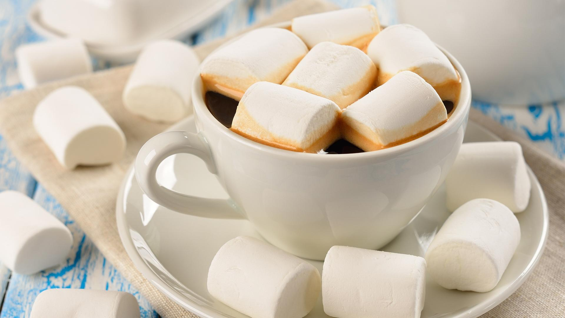 37 cute stuff wallpapers marshmallow and a cup of coffee - Cute coffee wallpaper ...