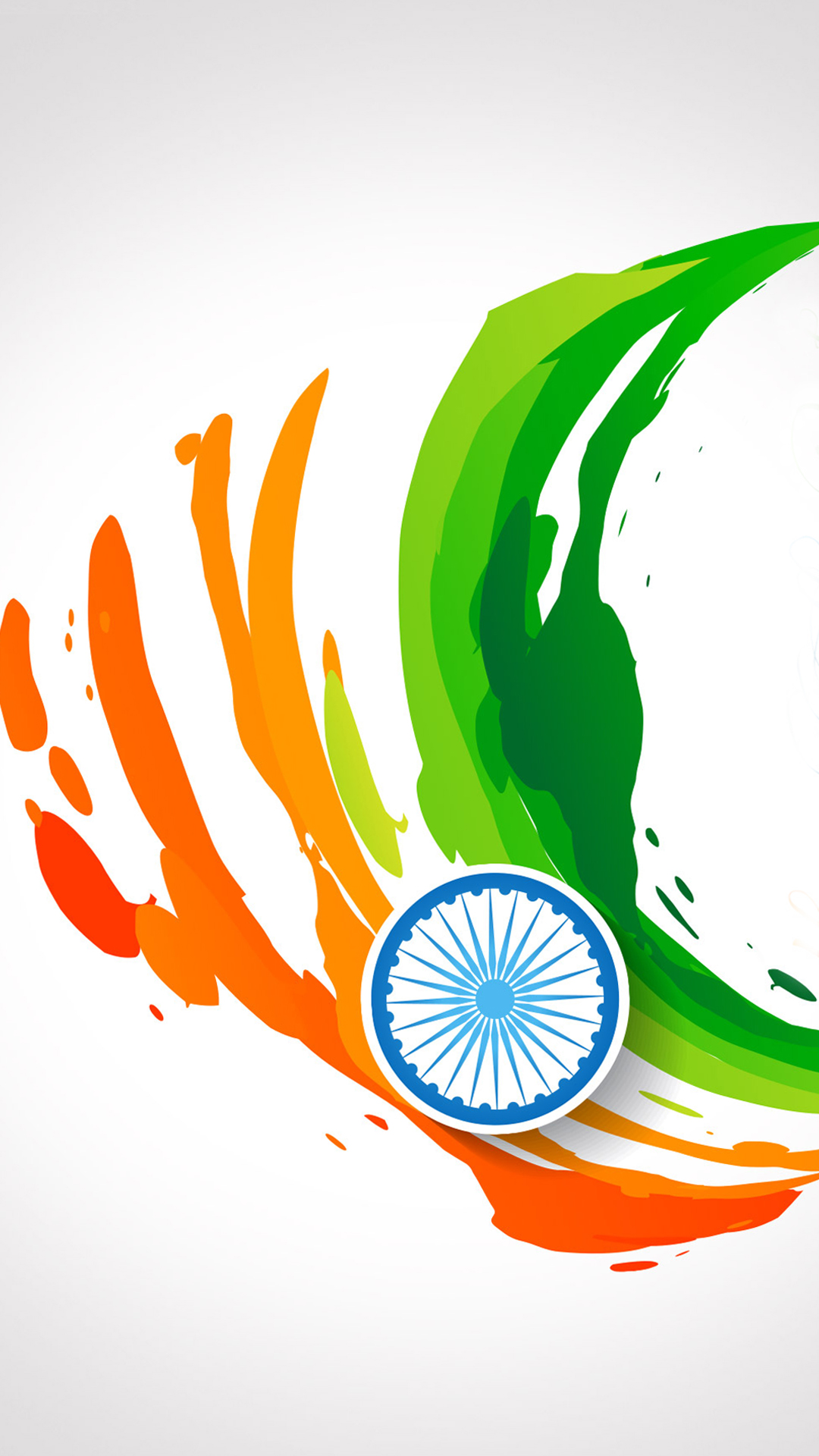 india flag for mobile phone wallpaper 14 of 17 – abstract tricolour