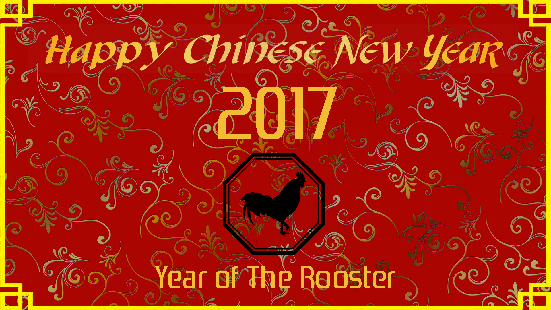 Chinese New Year 2017 Wallpaper Of The Rooster