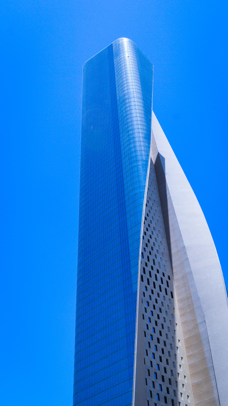 Free Download Of Blue IPhone 7 Wallpapers With Skyscrapers Picture