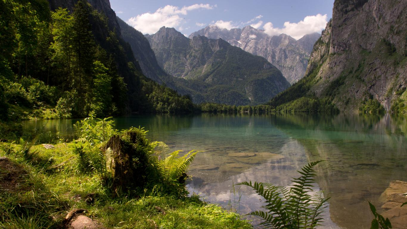 Hd Nature Wallpaper With Picture Of Obersee Lake German