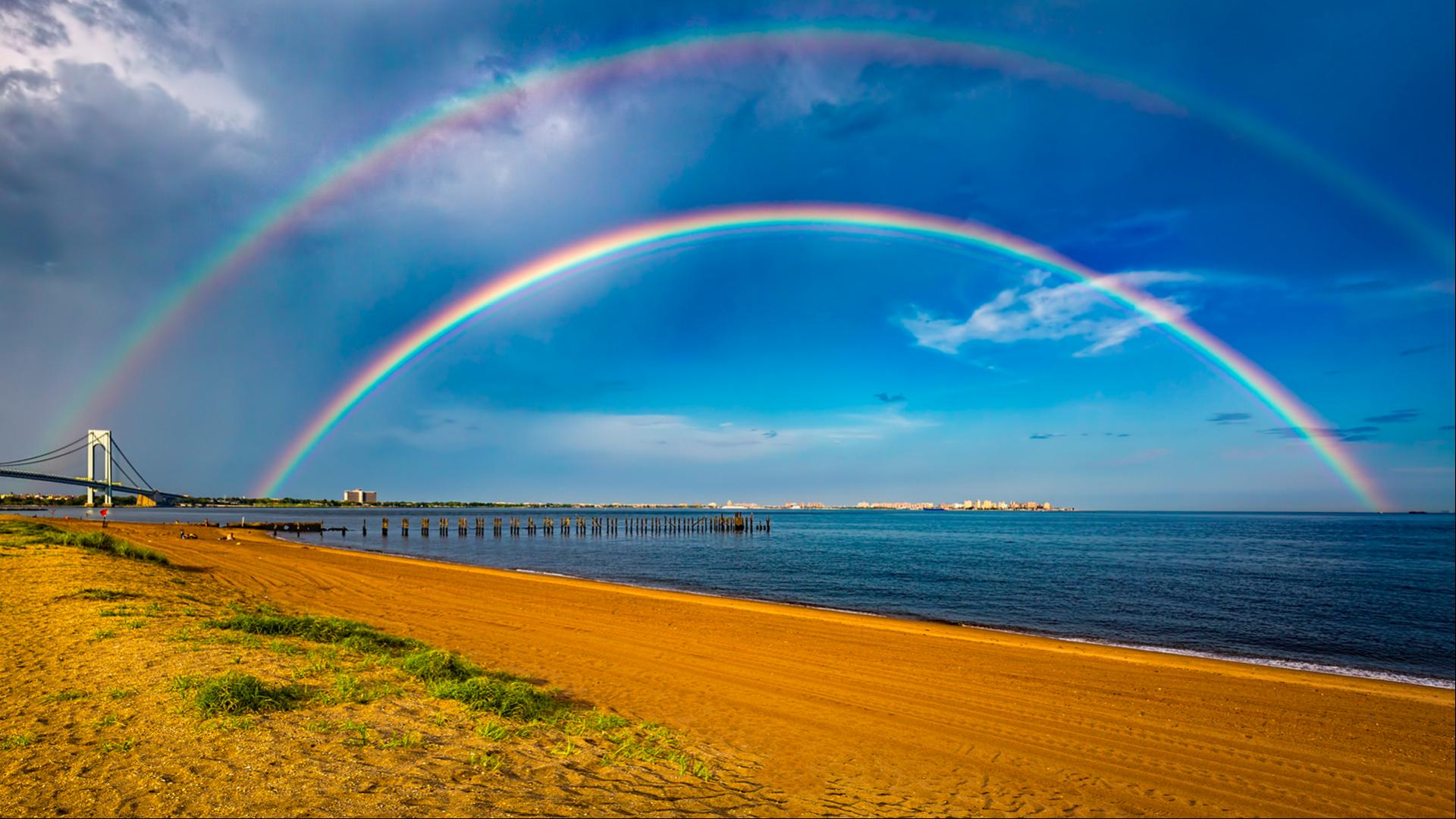 What is a double rainbow? - Met Office  |Double Rainbow Wallpaper