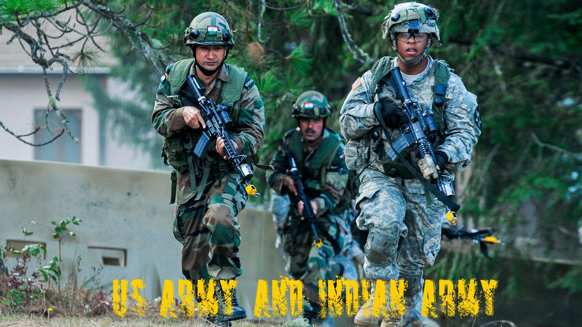 Indian Army Hd Wallpaper: Indian Army And US Army Wallpaper