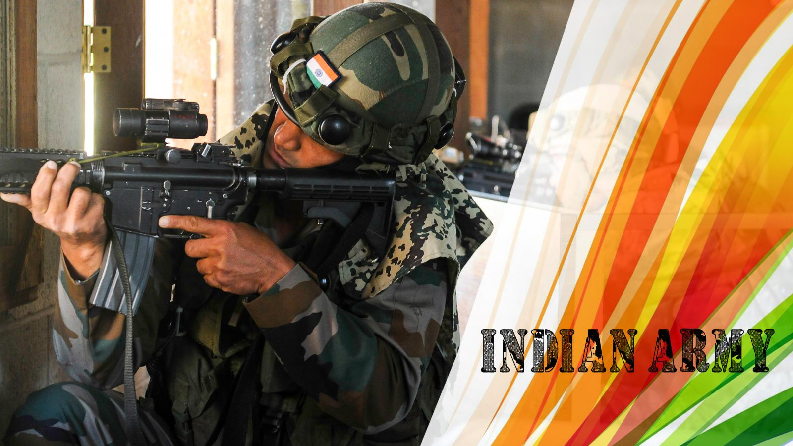Indian Army Wallpapers Hd Free Download: Indian Army Picture With Tiranga Decoration