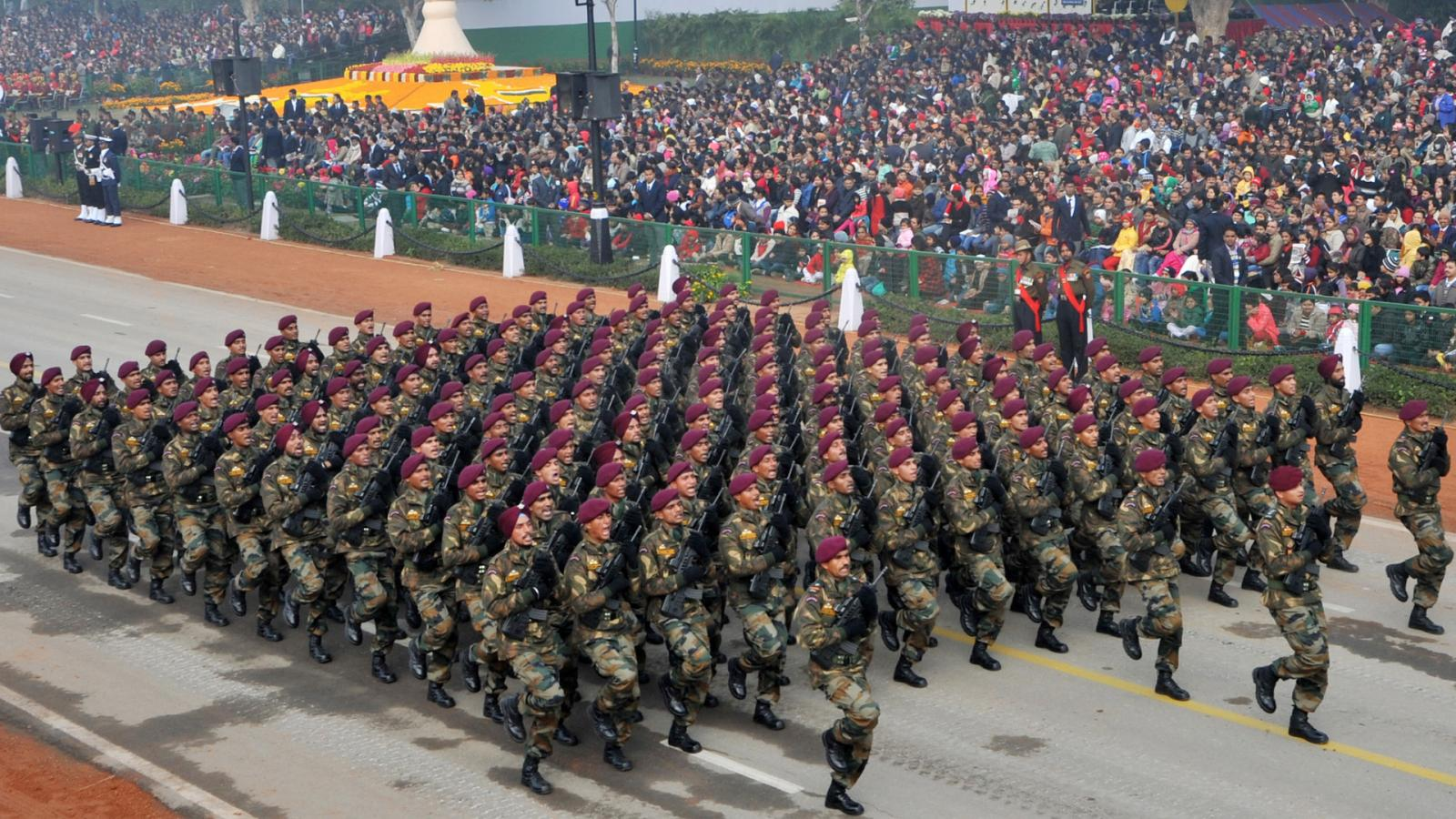 Parachute Regiment Indian Army In Republic Day Parade