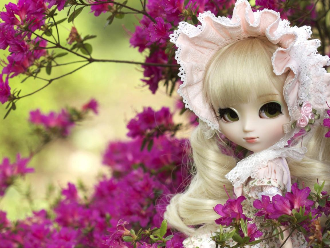 Picture of flower and cute doll for girly wallpapers hd wallpapers wallpapers download - Love doll hd wallpaper download ...