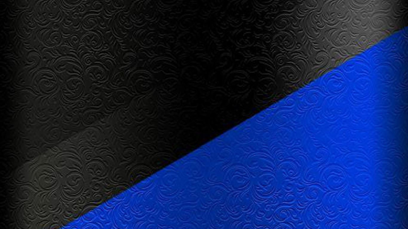 Dark S7 Edge Wallpaper 01 Black And Blue Floral Pattern
