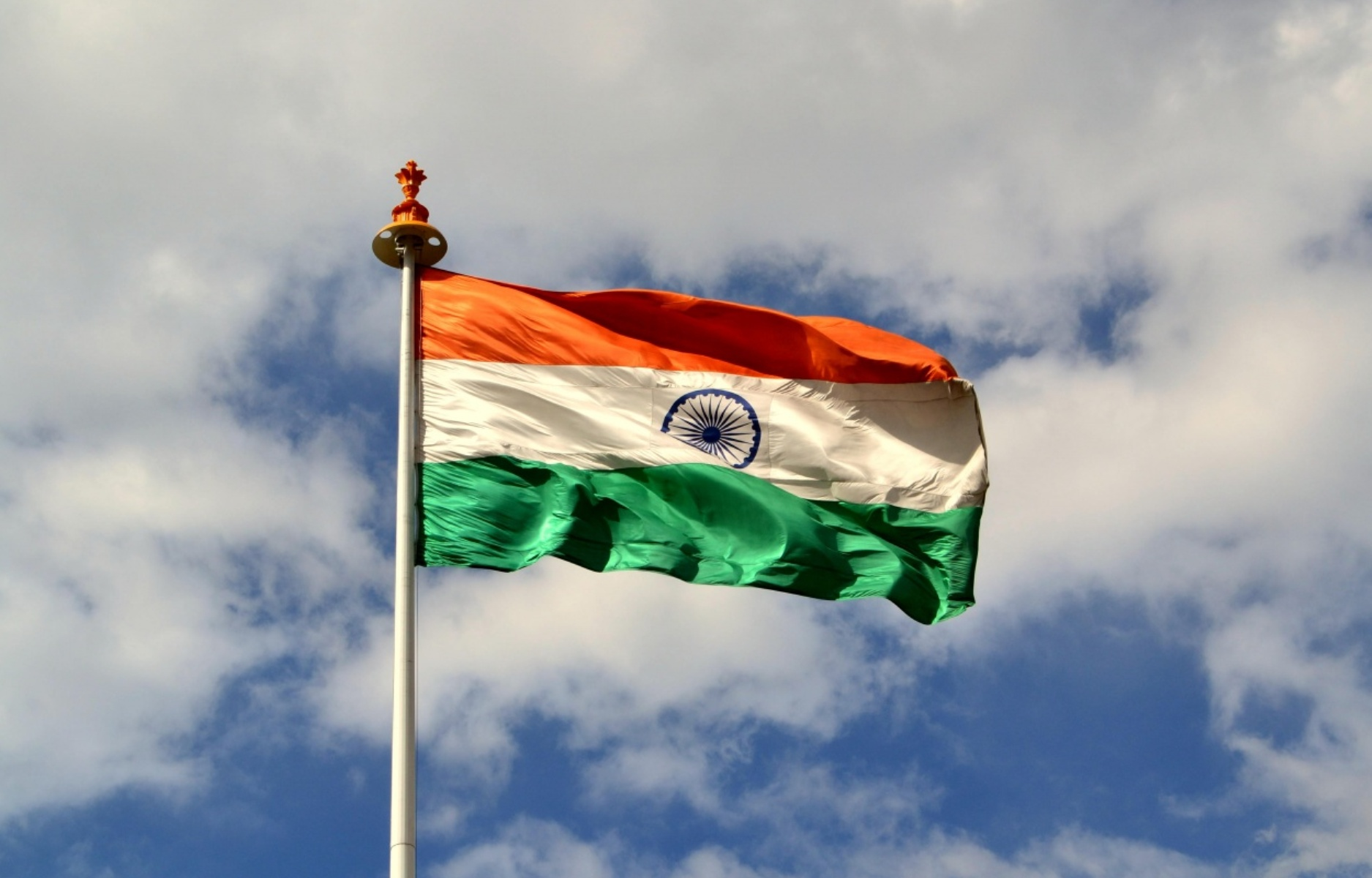 India Flag Wallpaper For Independence Day Download Fluttering On The Sky