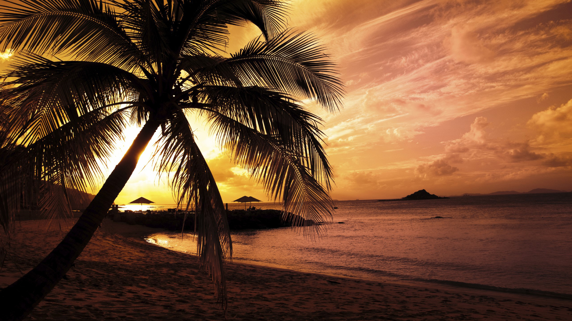 Full hd nature wallpapers 1080p desktop with sunset in - Beach hd wallpapers 1080p ...