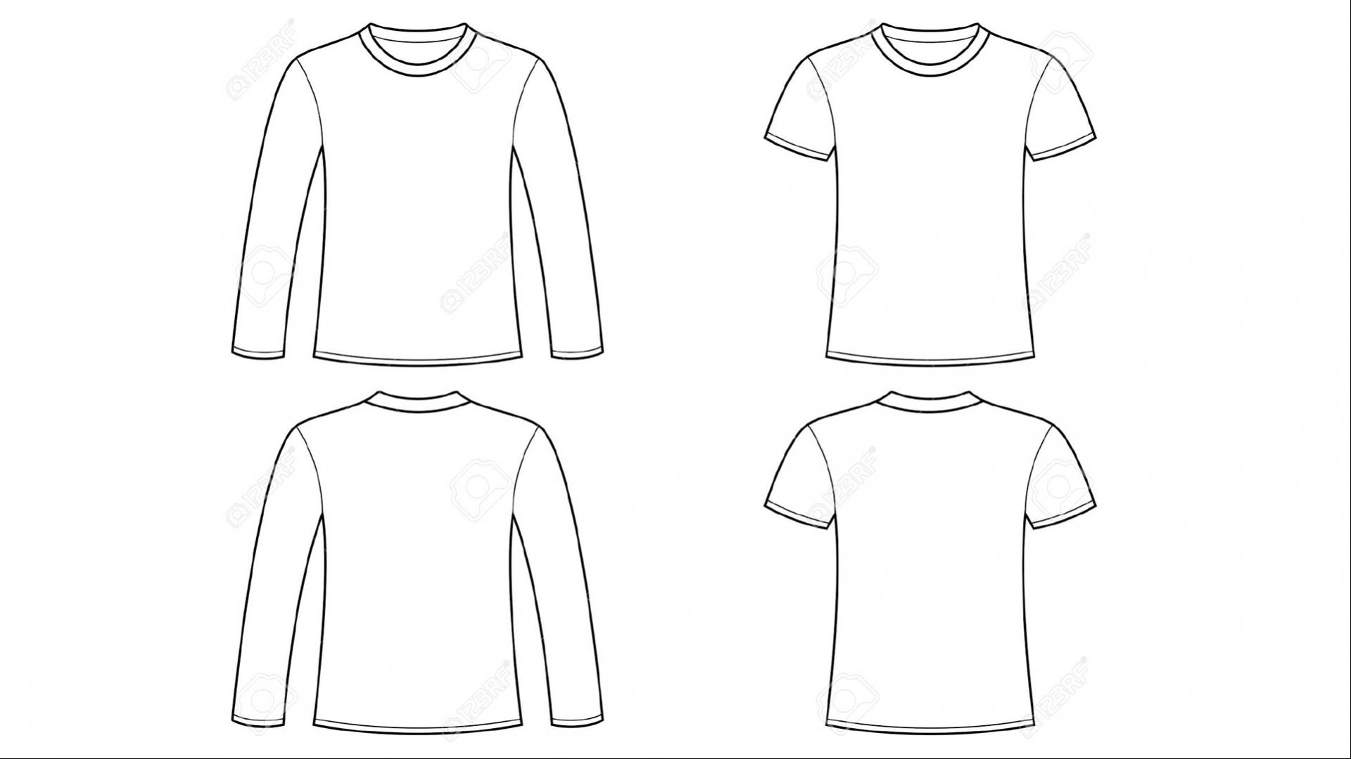 Blank Tshirt Template Clip Art With Long Sleeve Hd