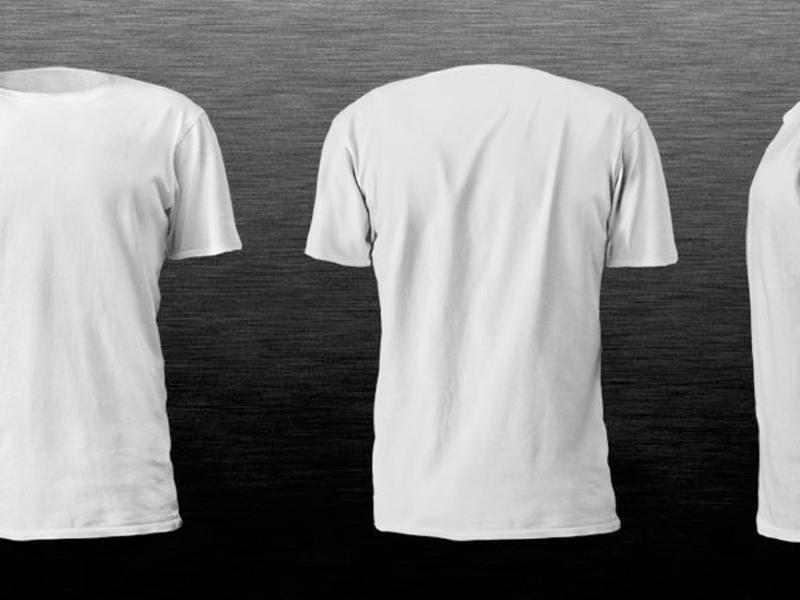 realistic blank tshirt template in white color hd