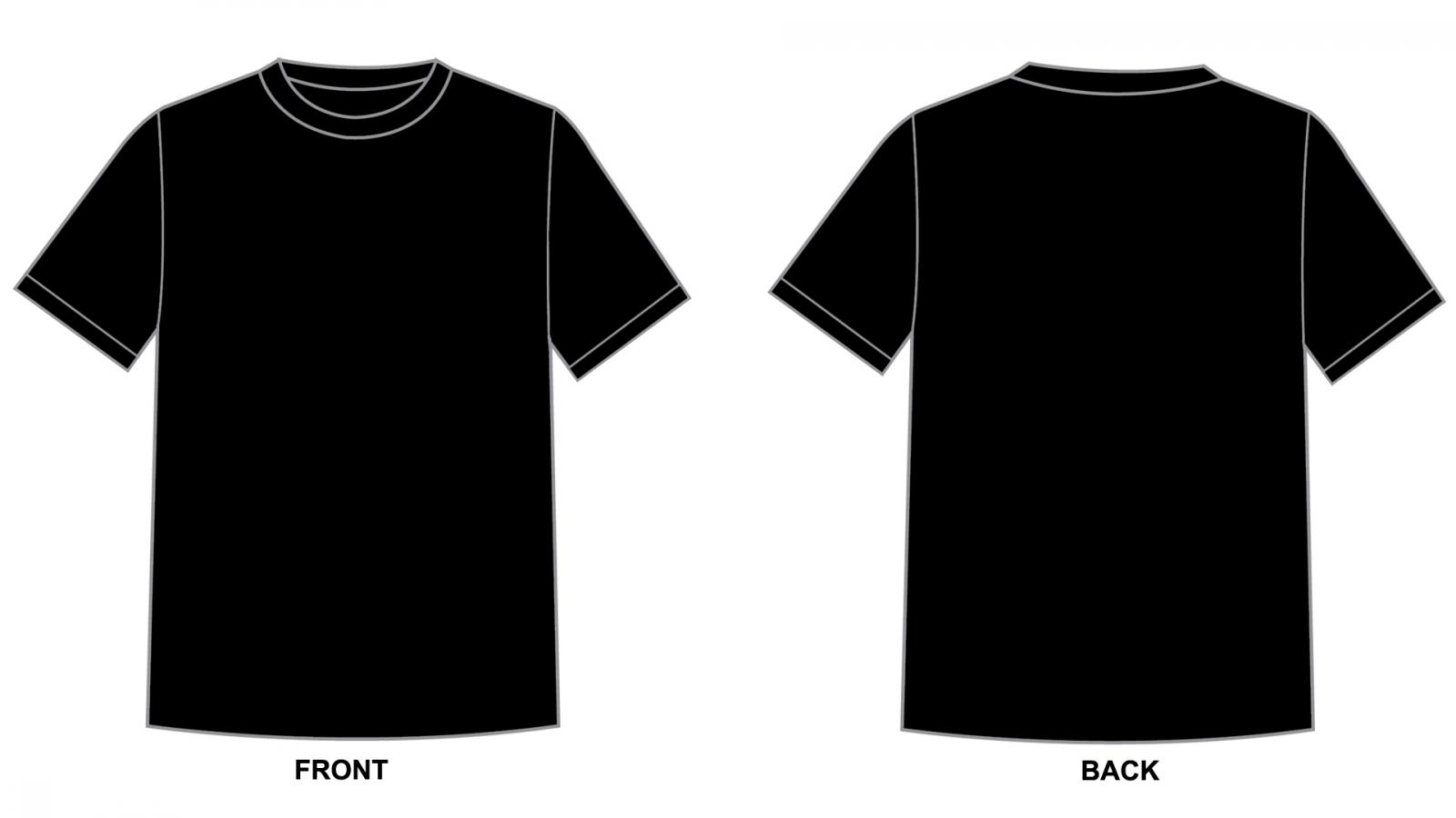black t shirts template - photo #31
