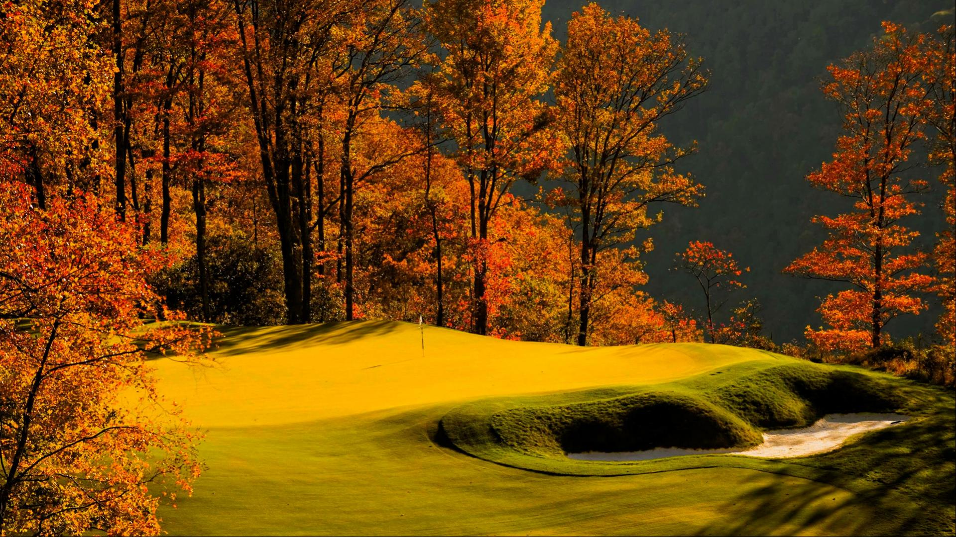 Autumn Golf Course Wallpaper In 1920x1080 Hd Wallpapers Wallpapers Download High Resolution Wallpapers