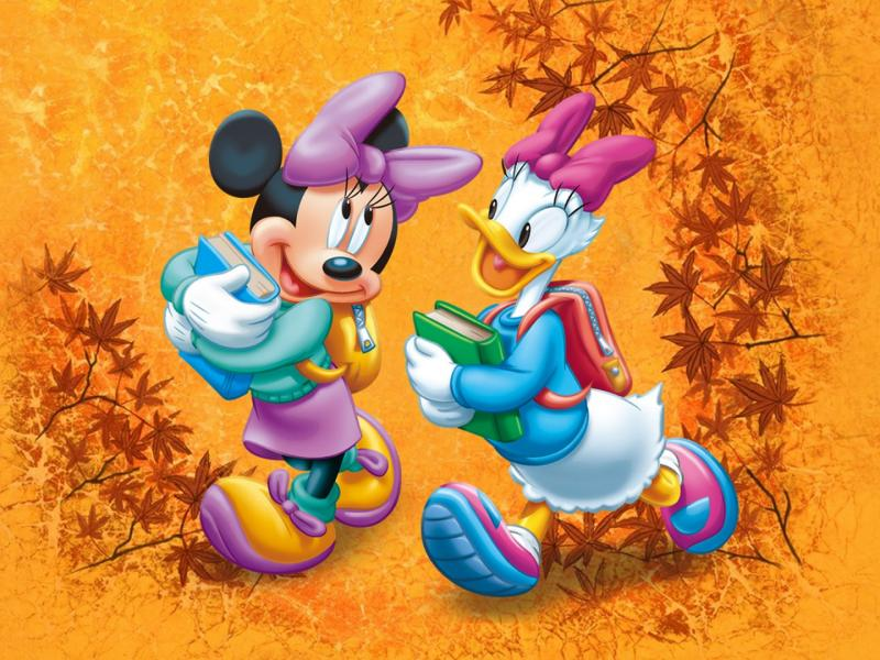 Mickey Mouse Autumn Wallpaper Minnie Mouse And Daisy