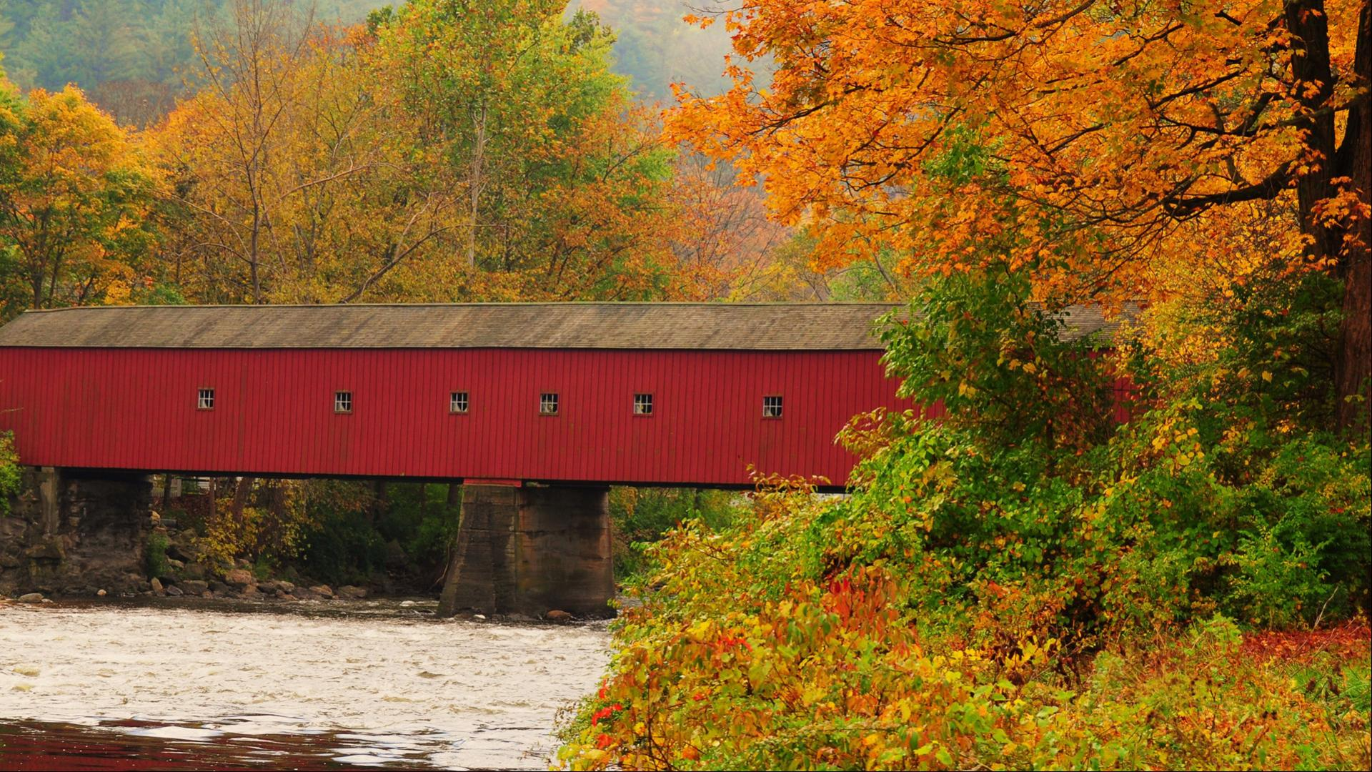 Autumn New England Desktop Wallpaper Covered Bridge Hd Wallpapers Wallpapers Download High Resolution Wallpapers