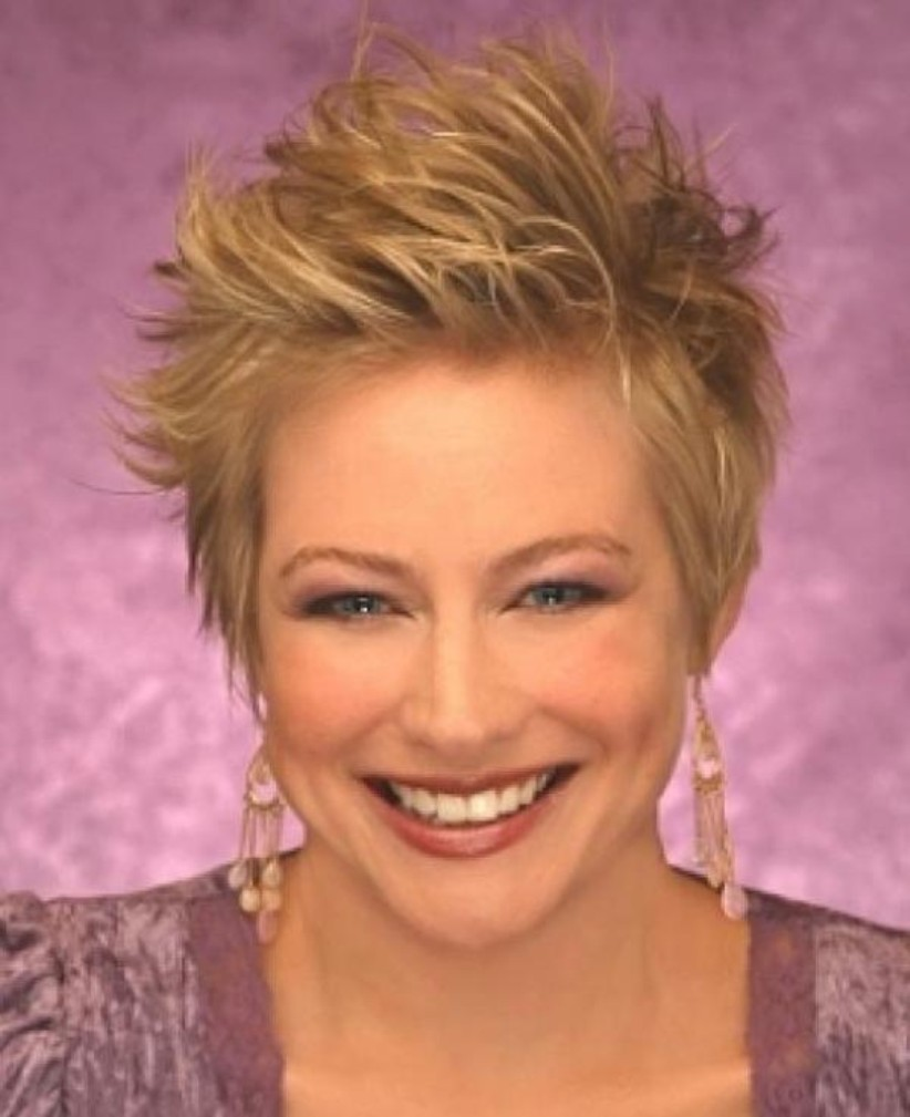 short spiky haircuts for thick hair for women over 40 | hd