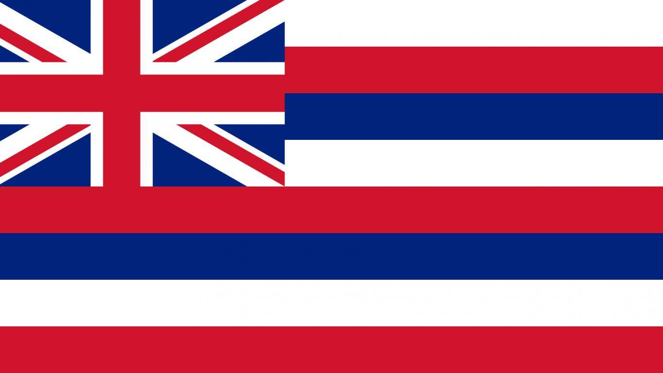 state flags of the united states of america with hawaiian