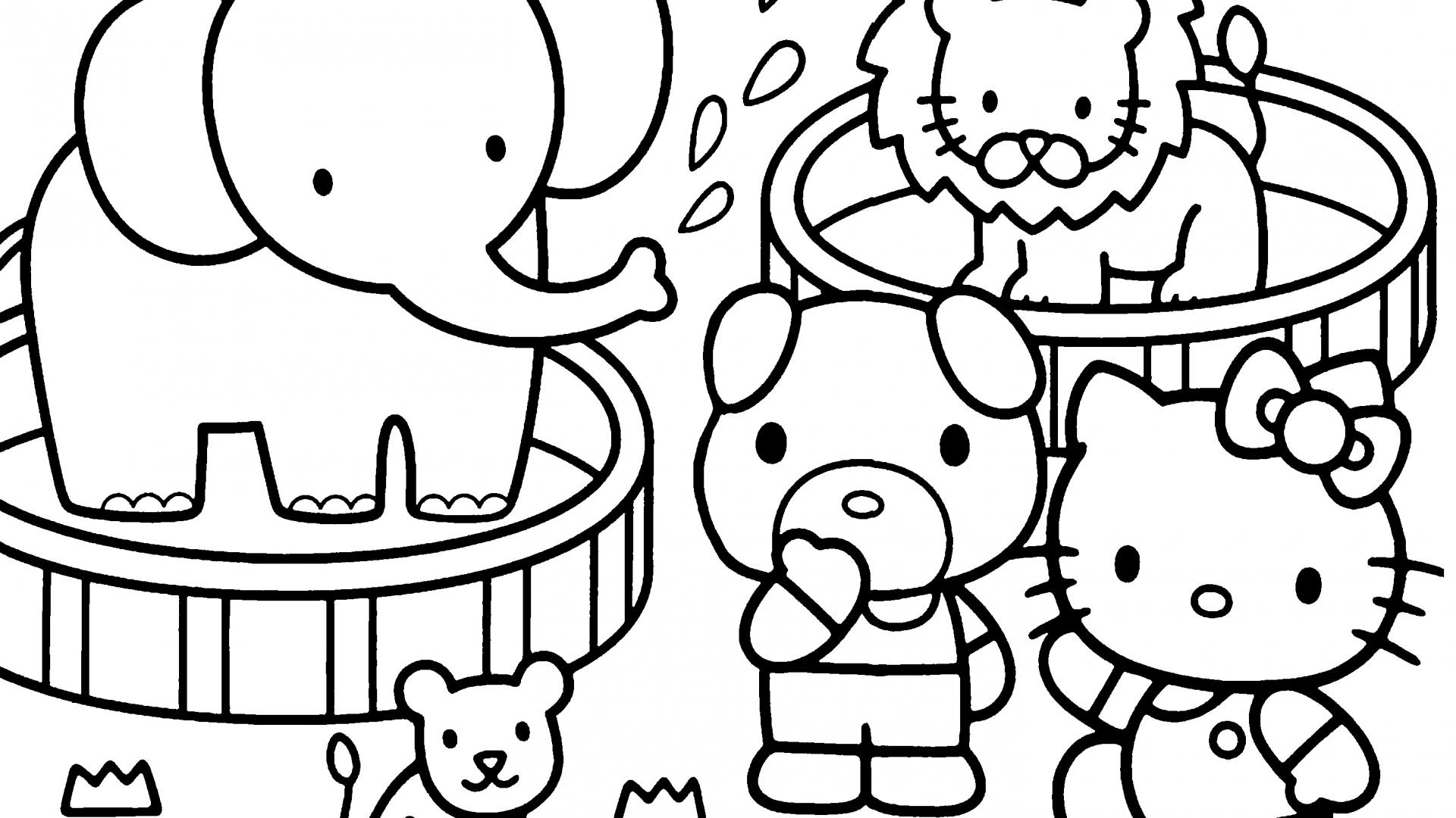 Hello Kitty Coloring Pages 04 of 15 - In the Zoo - HD Wallpapers ...