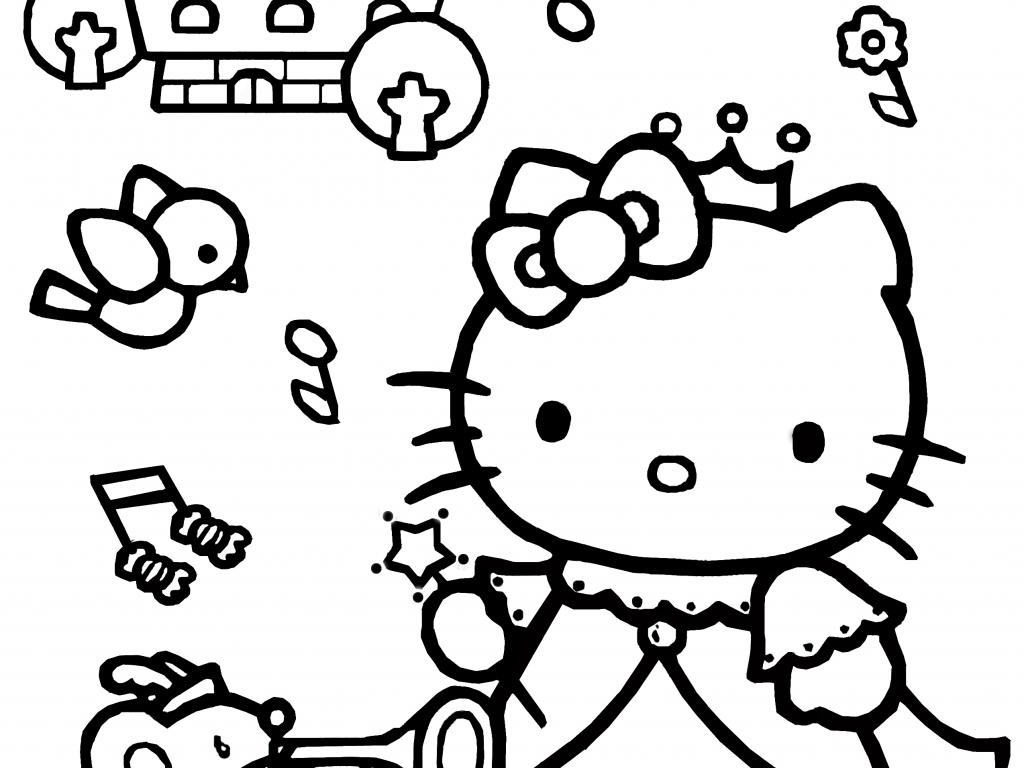 normal princess coloring pages | Hello Kitty Coloring Pages 06 of 15 - Princess - HD ...