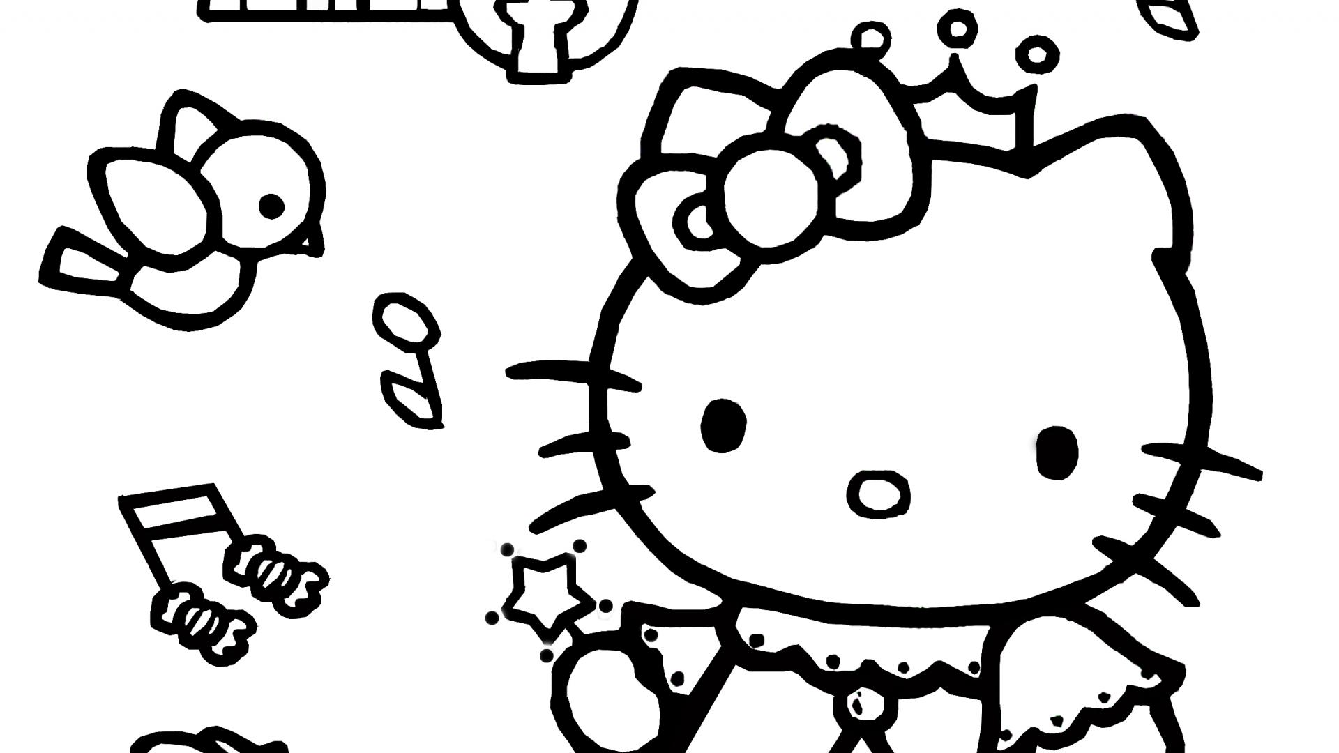 Hello Kitty Coloring Pages 06 of 15 – Princess
