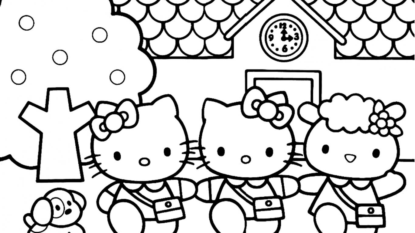 Hello Kitty Coloring Book Creative Kids Art Learn Colors