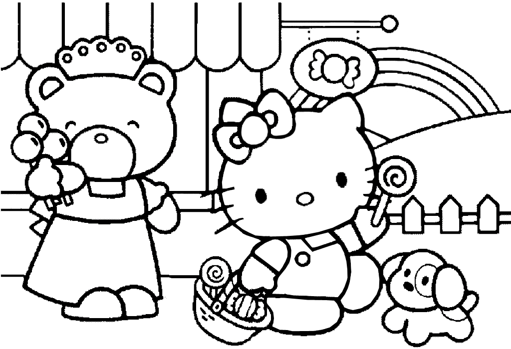 Hello Kitty Coloring Pages 08 Of 15 With Picture Sopping Candy