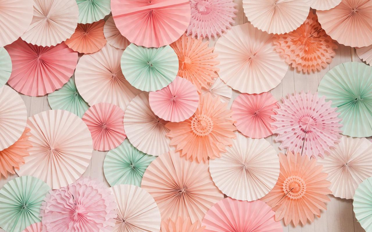 Mint And Coral Colored Paper Art Wallpaper Hd Wallpapers Wallpapers Download High
