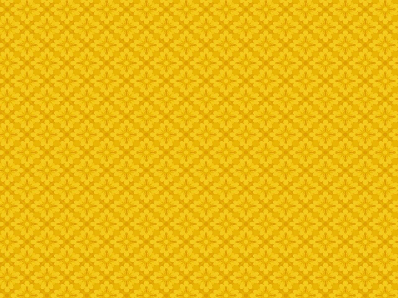 Purple And Yellow Floral Wallpaper