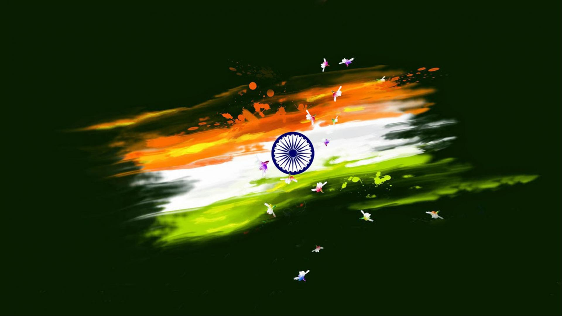 India Flag Hd 1920 X 1080: Abstract Paint India Flag For Republic Day And