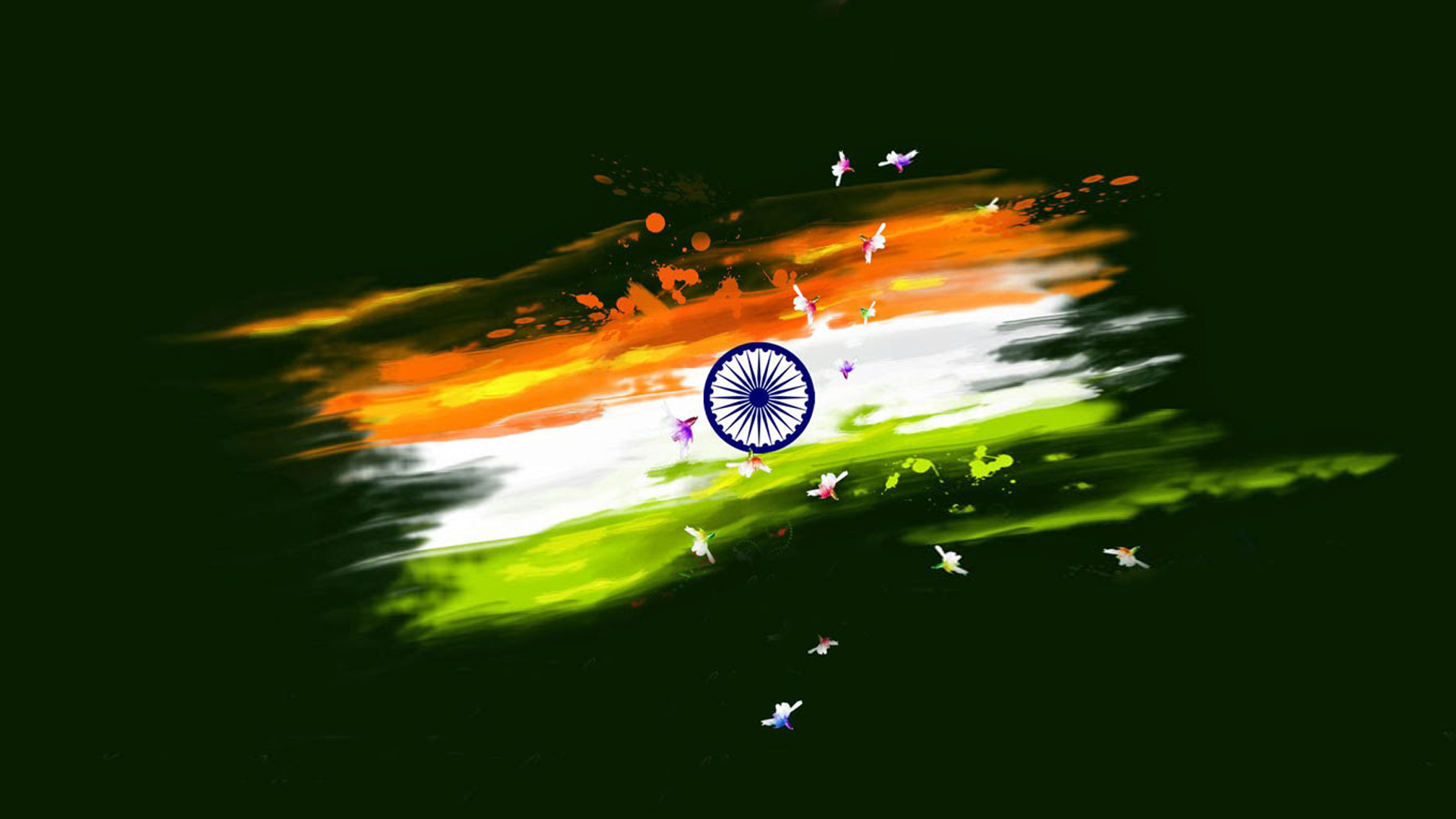 abstract paint india flag for independence day wallpaper in hd 1080p