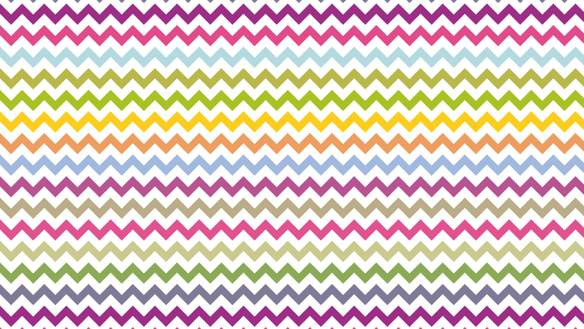 Zig Zag Wallpaper With White And Various Color Hd