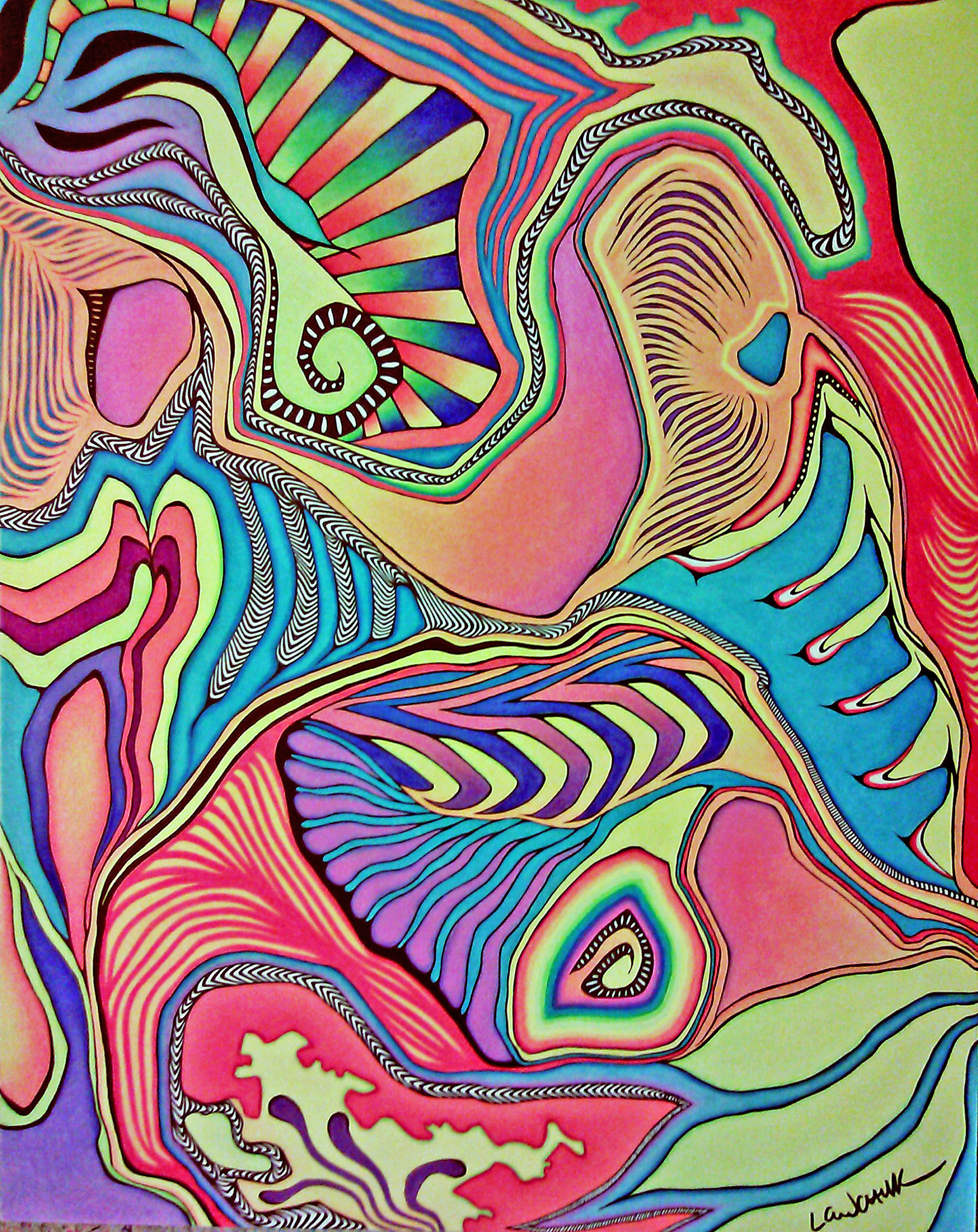 examples of abstract art drawings with colored pencil hd