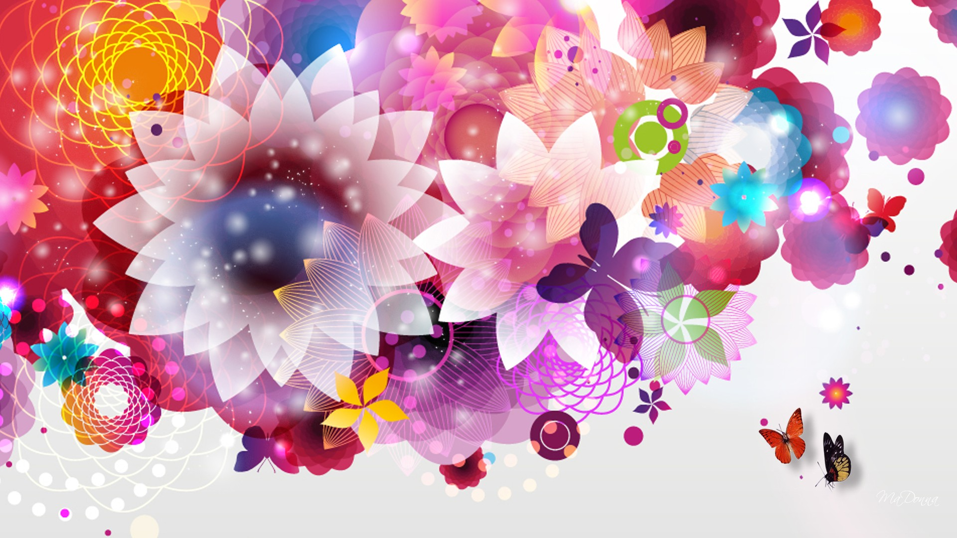 bright floral wallpaper for walls and desktop | hd wallpapers