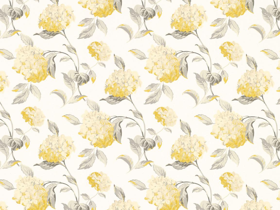 Yellow And Grey Floral Wallpaper Hd Wallpapers