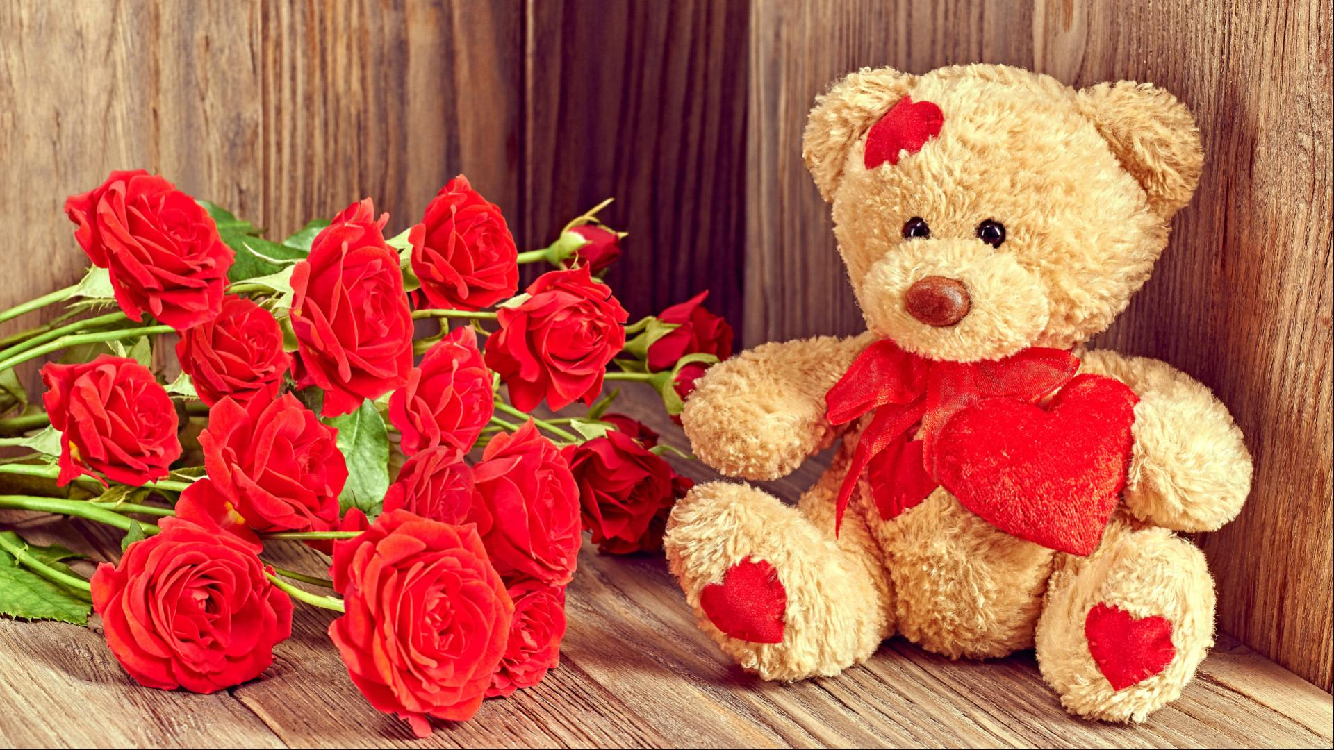 cute and romantic wallpaper with teddy bear images download | hd
