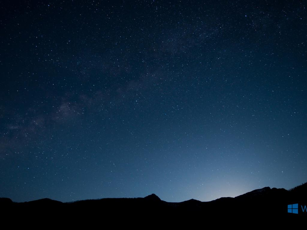 Windows 10 Wallpaper With Night Sky Background Hd