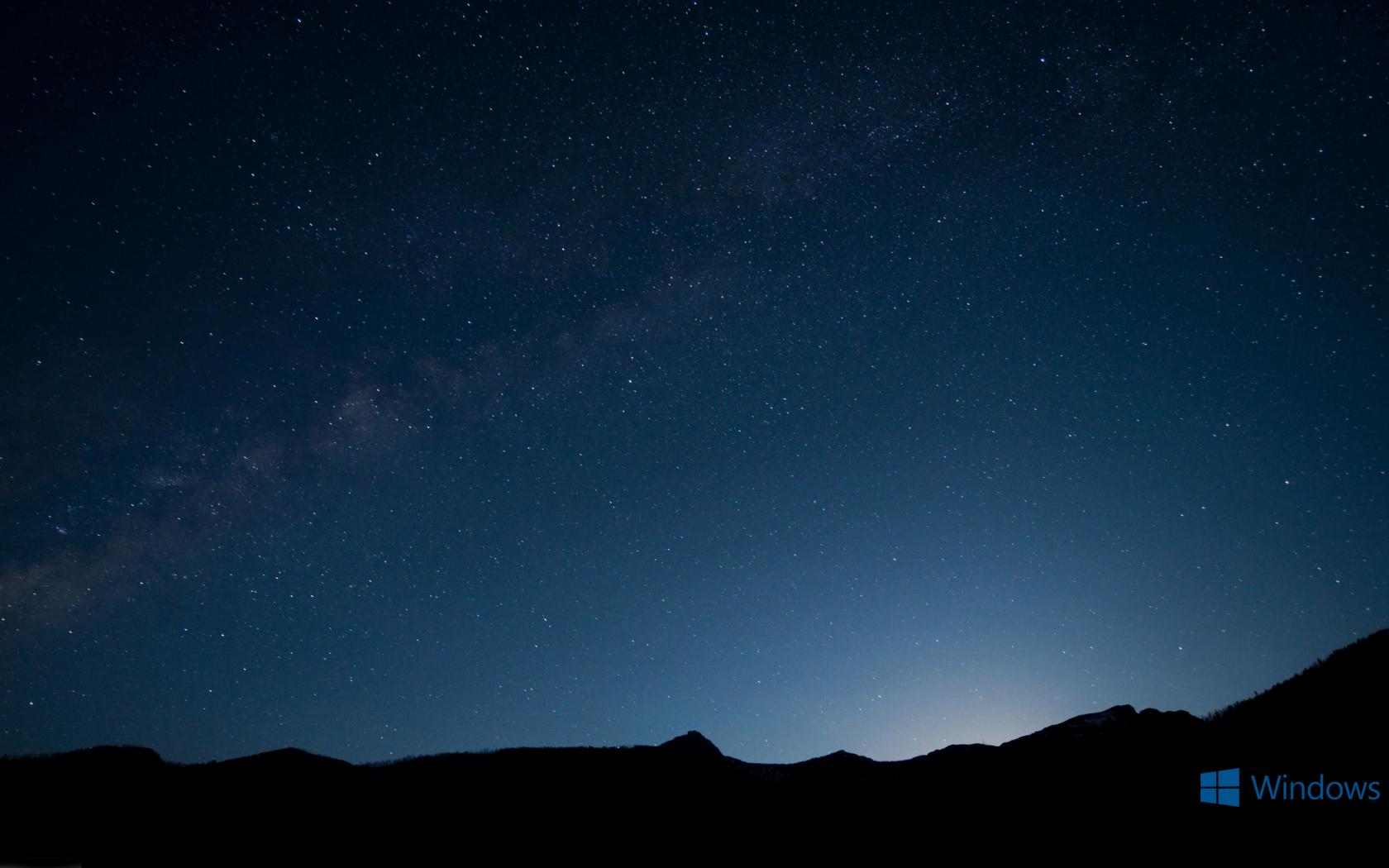 Windows 10 Wallpaper With Night Sky Background
