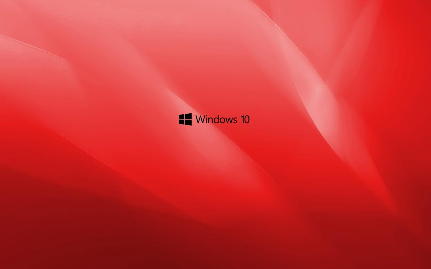 Windows 10 Wallpaper Red With Black Logo