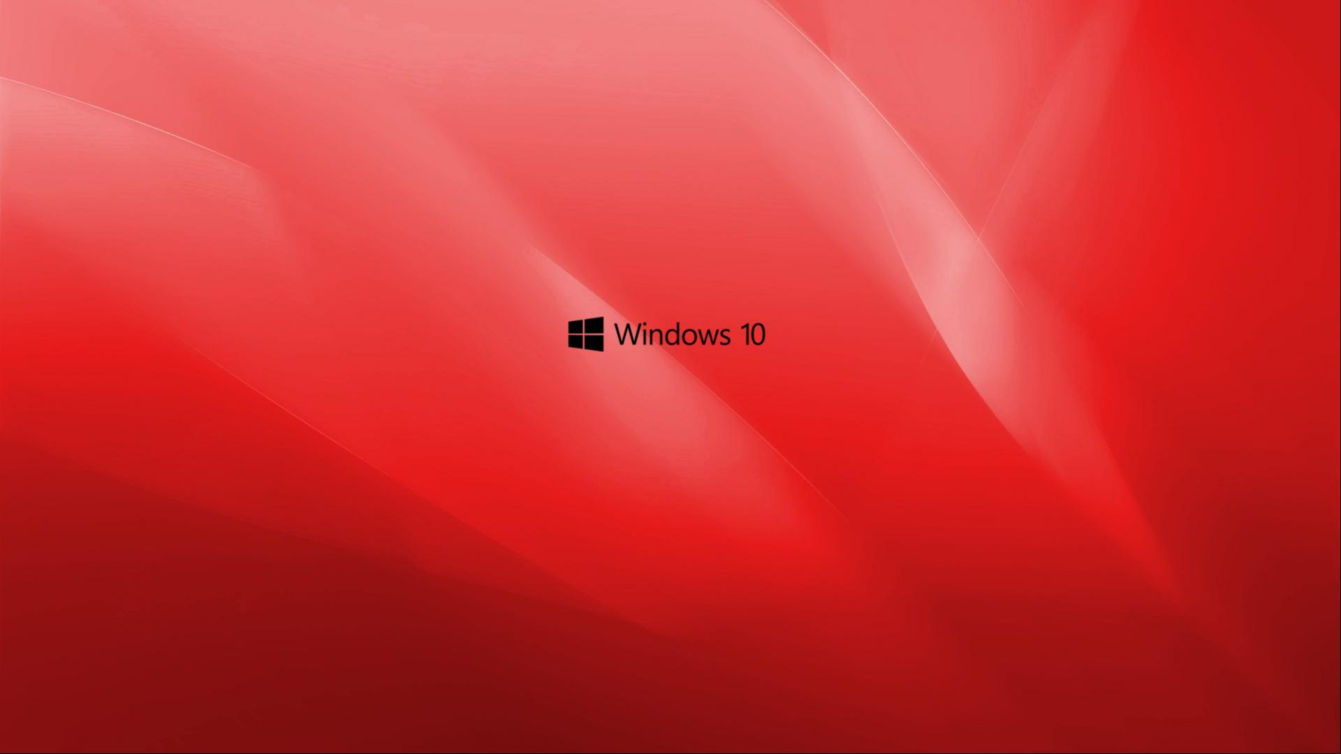 windows 10 wallpaper red with black logo hd wallpapers