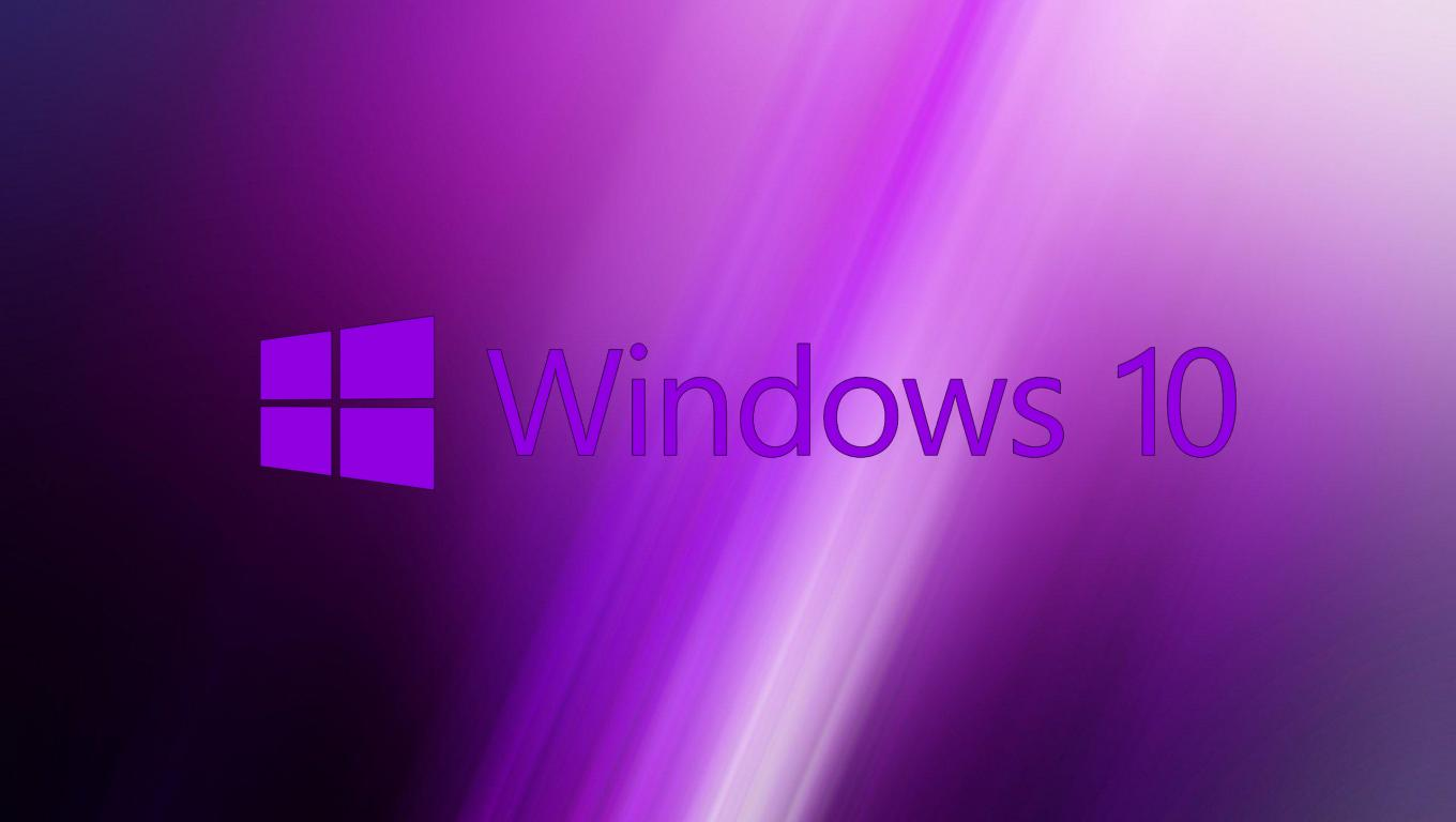 Windows 10 Original Wallpaper: Windows 10 Wallpaper Purple With Original Logo