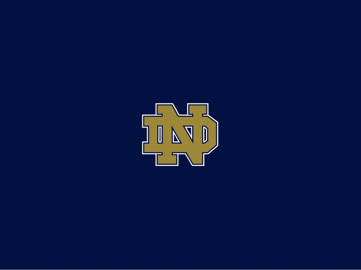 Notre Dame Fighting Irish Wallpaper With Official Logo In
