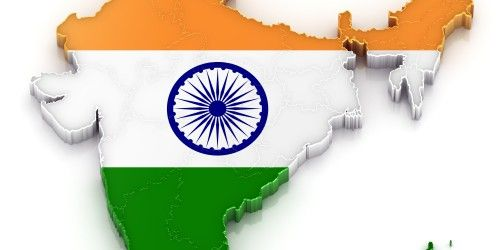 Flags of Countries - Three Colors as Flags of India with Map in 3D ...