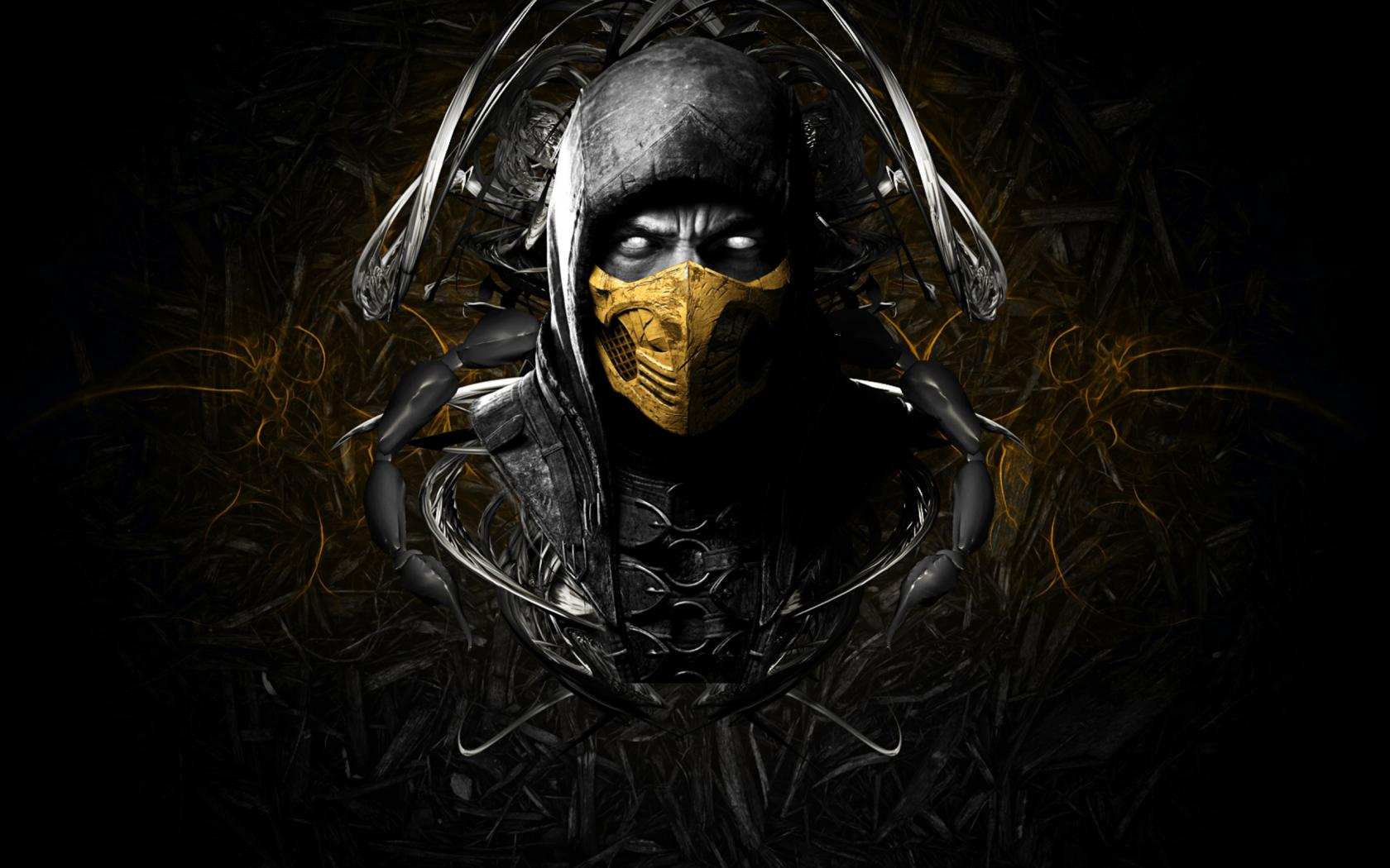 Artistic Images Of Scorpion From Mortal Kombat With Dark