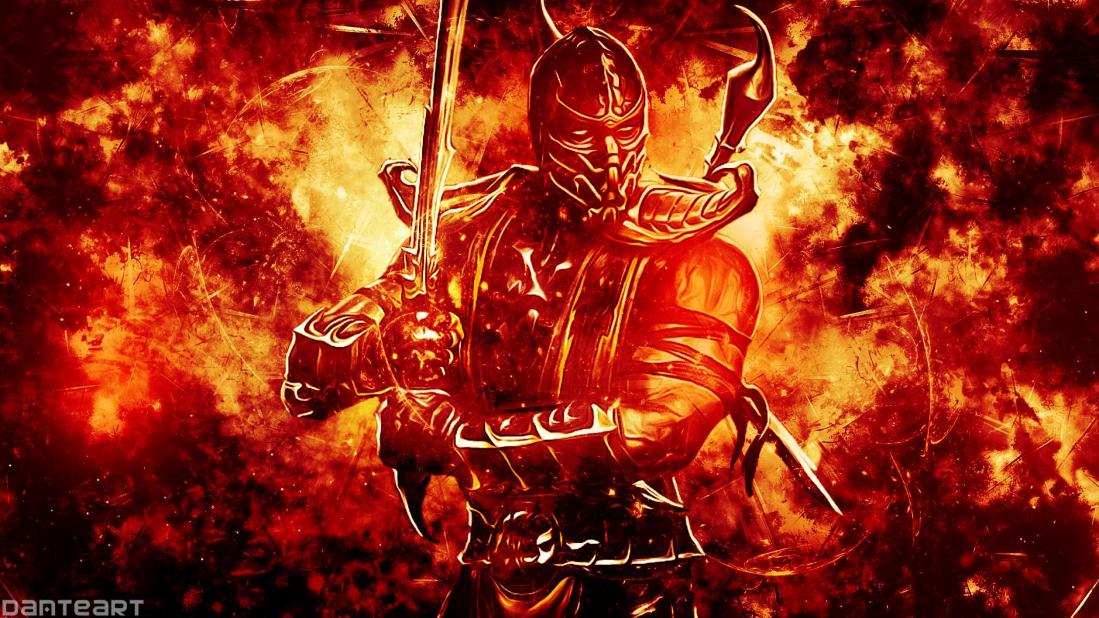 Pictures of scorpion from mortal kombat on fire with hd - Mortal kombat scorpion wallpaper ...