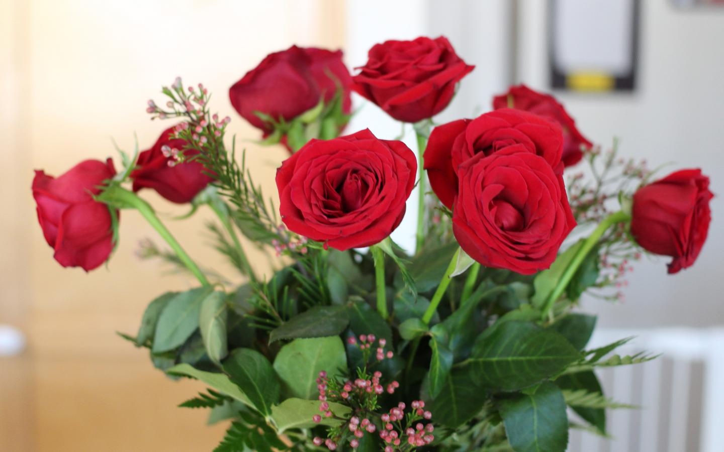 Pictures of 12 red roses as bouquet flower hd wallpapers - Bouquet of red roses hd images ...