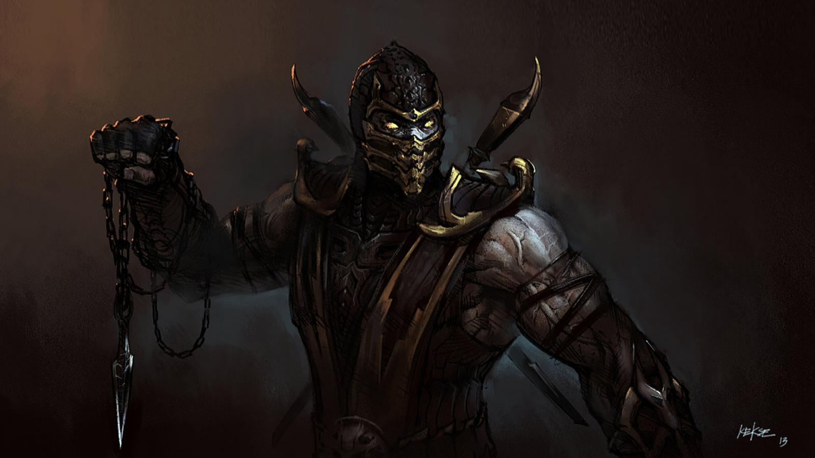 Artistic Images Of Scorpion From Mortal Kombat By
