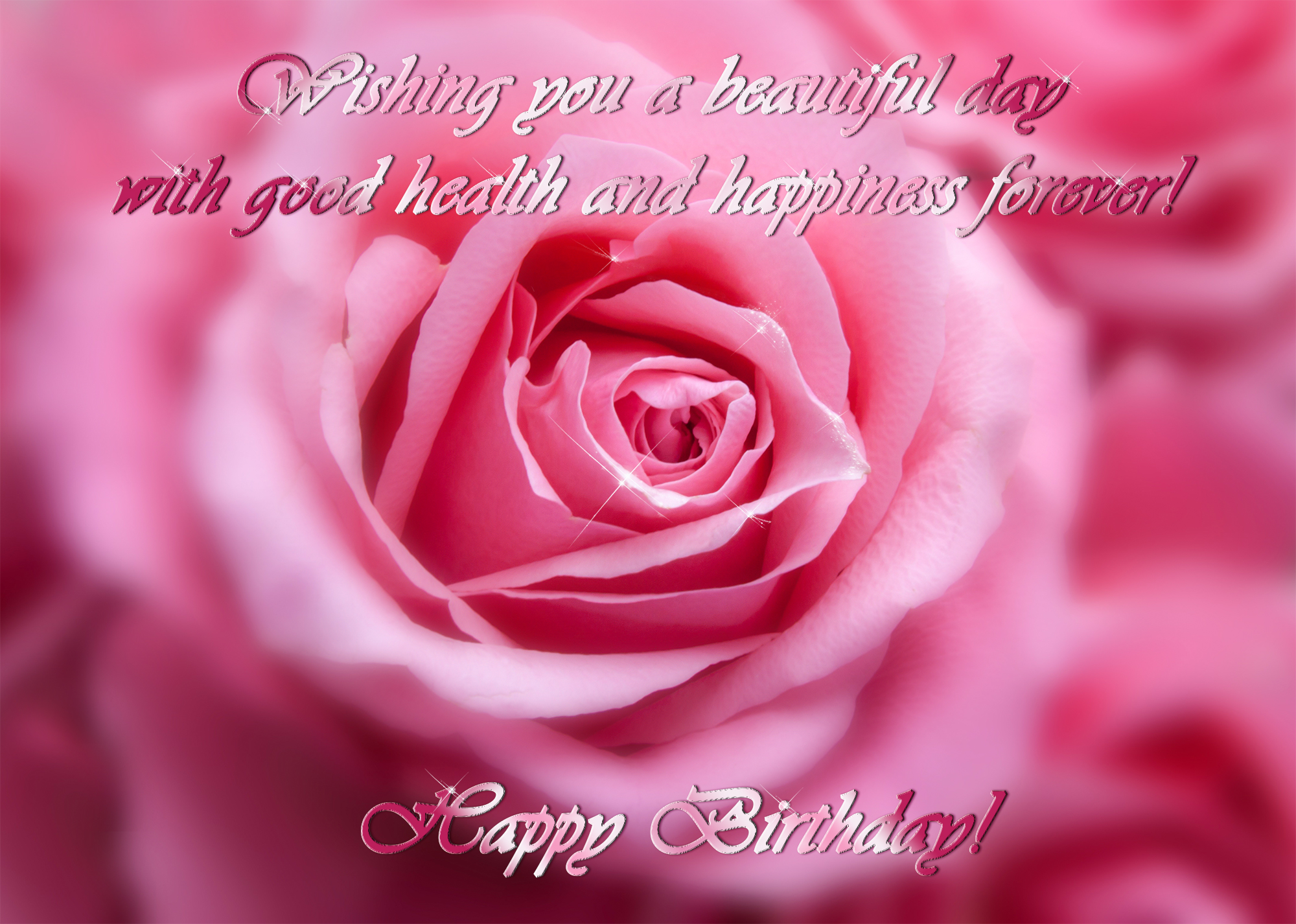 Happy Birthday Images With Rose Flowers In Pink Hd Wallpapers