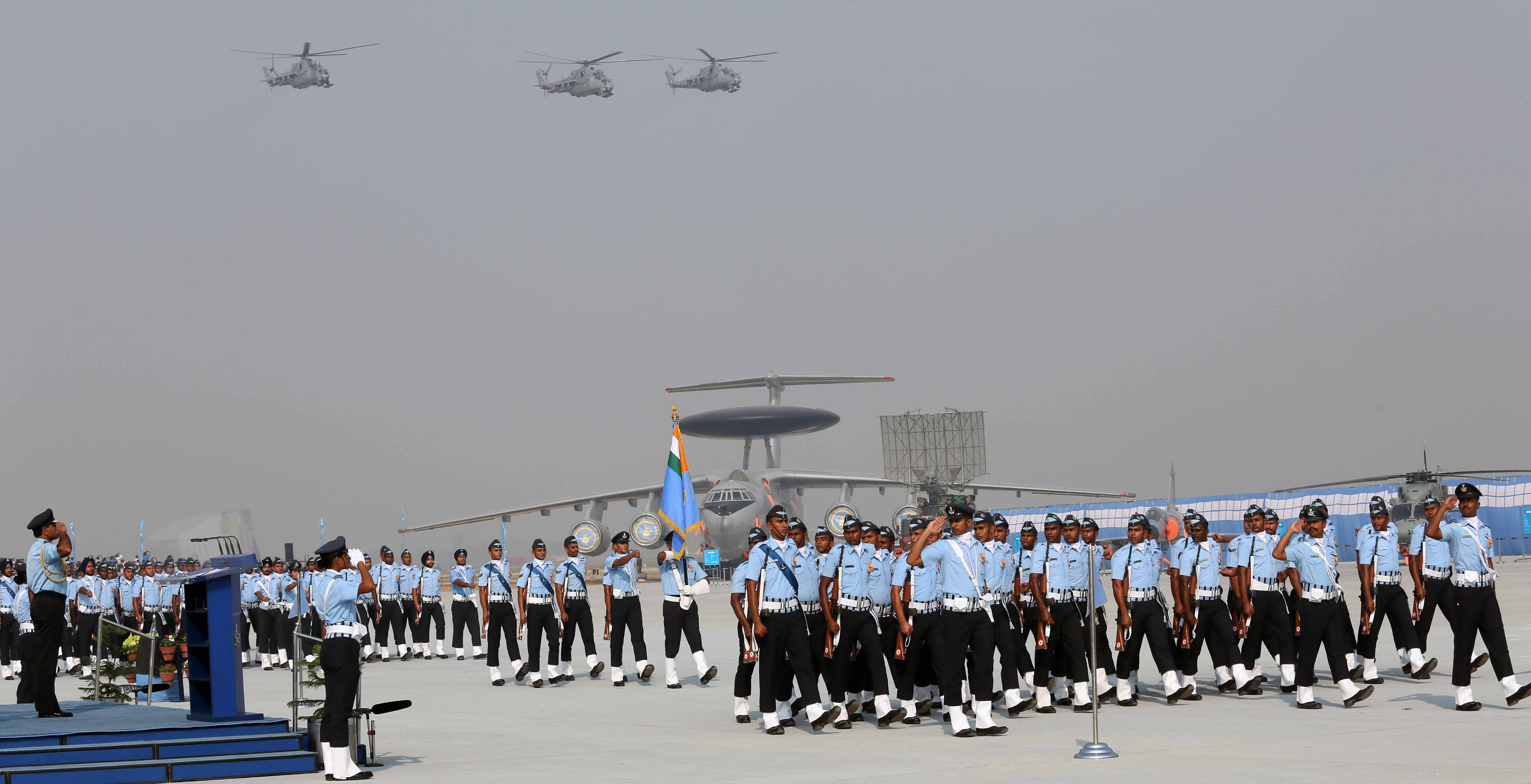 Indian Air Force Wallpaper With Air Force Day Parade Photo Hd