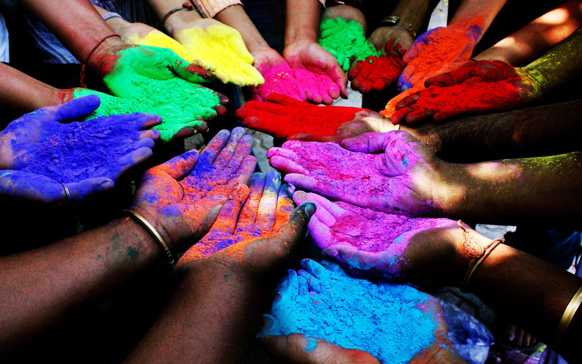 Holi Day in India 2015 Festival of Colors with Colorful Powders  HD
