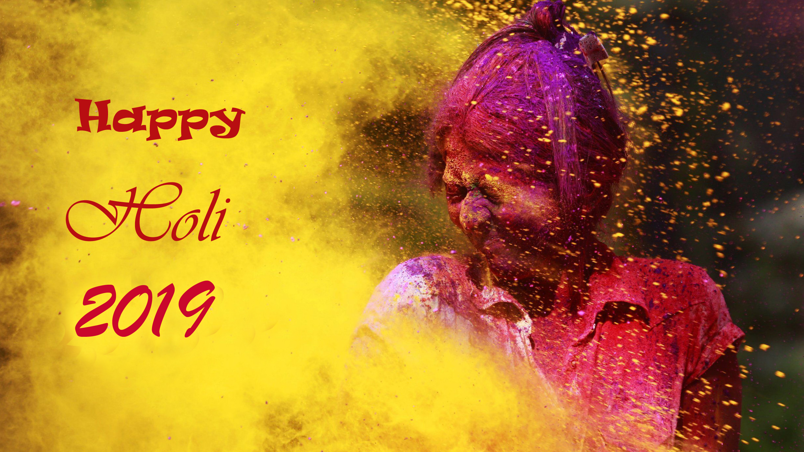 Greeting Card for Happy Holi 2018 HD Wallpapers